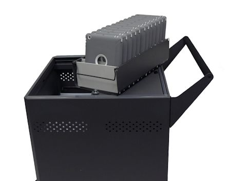 DS-GR-T-M32-SC - Sync and Charge Cart Holds 32 iPads and Tablets